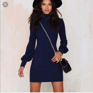 EUC Nasty Gal Someone to Love ribbed dress